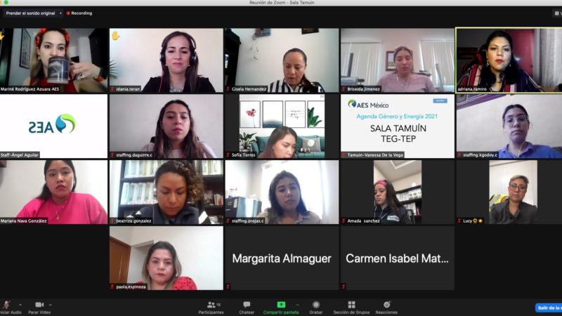 Celebra AES México, Agenda Género y Energía 2021